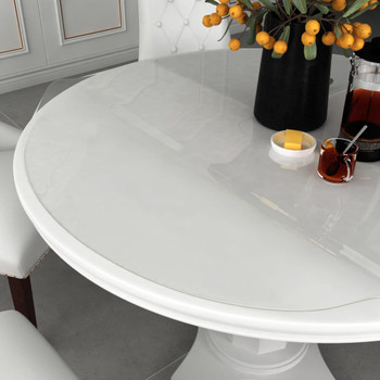 vidaXL Zaštita za stol prozirna Ø 100 cm 2 mm PVC