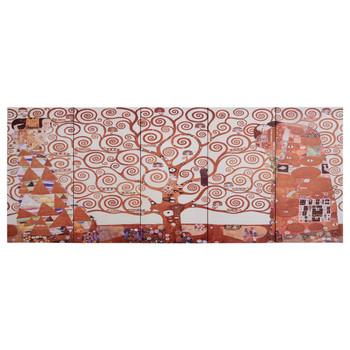 vidaXL Set zidnih slika na platnu s uzorkom stabla žuti 150 x 60 cm