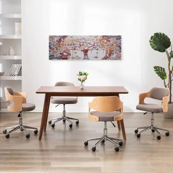 vidaXL Set zidnih slika na platnu s uzorkom stabla šareni 120 x 40 cm