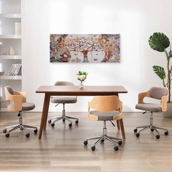 vidaXL Set zidnih slika na platnu s uzorkom stabla šareni 150 x 60 cm