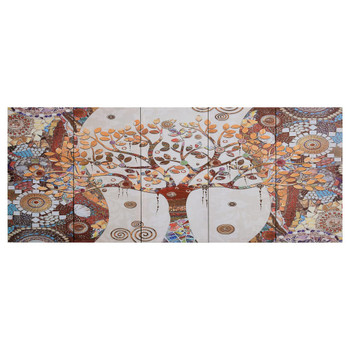 vidaXL Set zidnih slika na platnu s uzorkom stabla šareni 200 x 80 cm