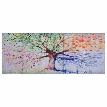 vidaXL Set zidnih slika na platnu s uzorkom kišnog stabla 200 x 80 cm