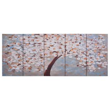 vidaXL Set zidnih slika na platnu s uzorkom cvatućeg stabla 150x60 cm