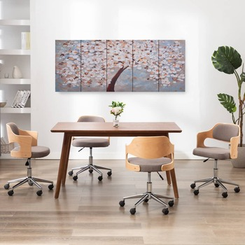 vidaXL Set zidnih slika na platnu s uzorkom cvatućeg stabla 200x80 cm