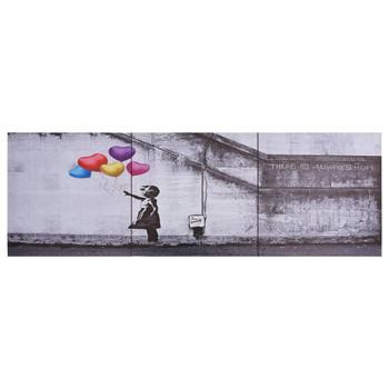 vidaXL Set zidnih slika na platnu s uzorkom djeteta šareni 120 x 40 cm