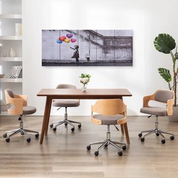 vidaXL Set zidnih slika na platnu s uzorkom djeteta šareni 200 x 80 cm