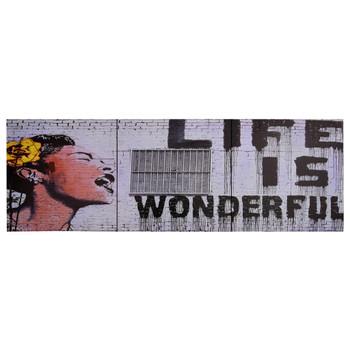 vidaXL Set zidnih slika na platnu s natpisom Wonderful 120 x 40 cm