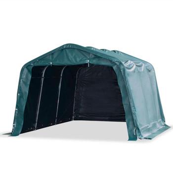 vidaXL Uklonjivi šator za stoku PVC 550 g/m² 3,3 x 4,8 m tamnozeleni