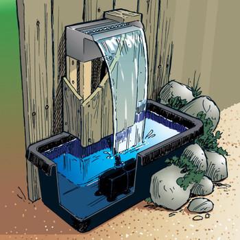 Ubbink Niagara vodopad 30 cm s pumpom za vodu i LED rasvjetom