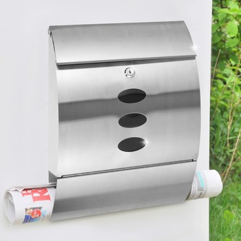 HI poštanski sandučić od nehrđajućeg čelika 30 x 12 x 40 cm
