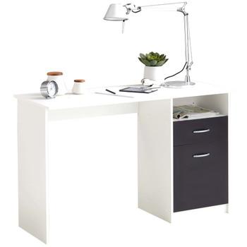 FMD radni stol s 1 ladicom 123 x 50 x 76,5 cm bijelo-crni