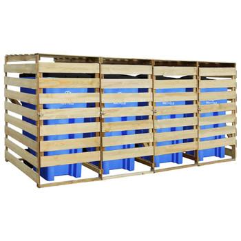 vidaXL Spremište za četiri kante za smeće impregnirana borovina 240 L