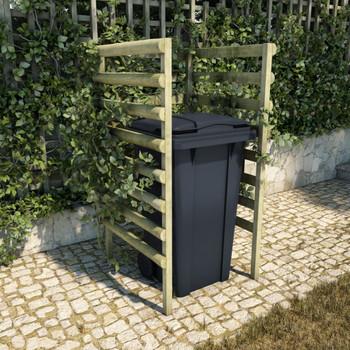 vidaXL Spremište za jednu kantu za smeće zeleno 70x80x150 cm borovina