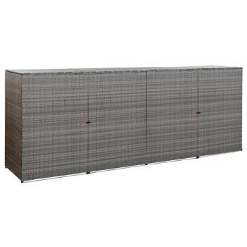 vidaXL Spremište za 4 kante za smeće antracit 305x78x120 cm poliratan