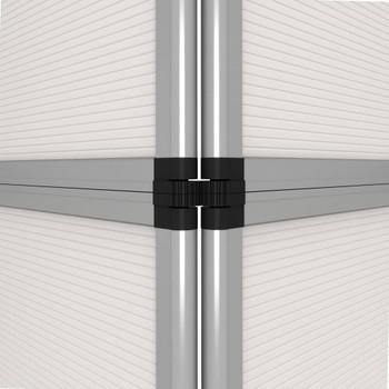 vidaXL Sklopivi izložbeni zid s 12 ploča 242 x 200 cm bijeli