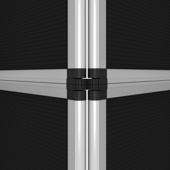 vidaXL Sklopivi izložbeni zid s 12 ploča 242 x 200 cm crni