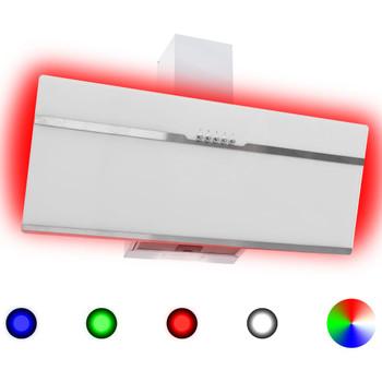 vidaXL RGB napa LED 90 cm od nehrđajućeg čelika i kaljenog stakla