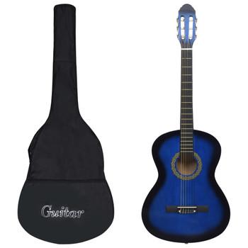 """vidaXL 12-dijelni set klasične gitare za početnike plavi 4/4 39"""""""