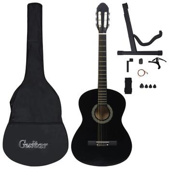 """vidaXL 12-dijelni set klasične gitare za početnike crni 4/4 39"""""""