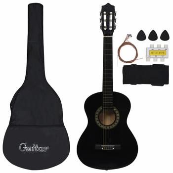 """vidaXL 8-dijelni set klasične gitare za početnike crni 1/2 34"""""""