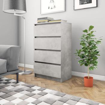 vidaXL Komoda siva boja betona 60 x 35 x 98,5 cm od iverice