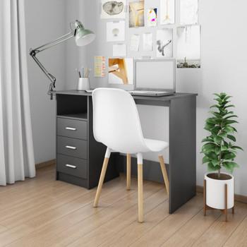 vidaXL Radni stol s ladicama crni 110 x 50 x 76 cm od iverice