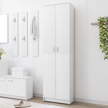 vidaXL Ormar za hodnik bijeli 55 x 25 x 189 cm od iverice