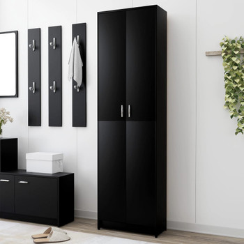 vidaXL Ormar za hodnik crni 55 x 25 x 189 cm od iverice