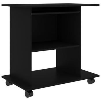 vidaXL Stol za računalo crni 80 x 50 x 75 cm od iverice