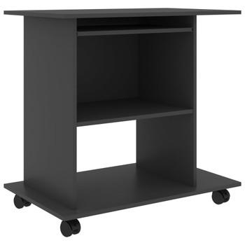 vidaXL Stol za računalo sivi 80 x 50 x 75 cm od iverice