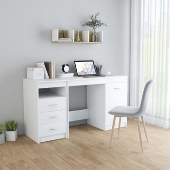 vidaXL Radni stol bijeli 140 x 50 x 76 cm od iverice