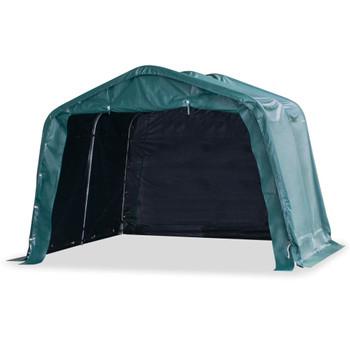 vidaXL Uklonjivi šator za stoku PVC 550 g/m² 3,3 x 3,2 m tamnozeleni