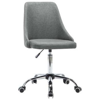 vidaXL Uredske stolice s kotačima 2 kom od tkanine svjetlosive