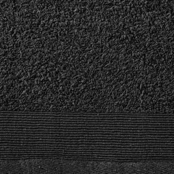vidaXL Set kupaonskih ručnika 5 kom pamučni 450 gsm 100 x 150 cm crni