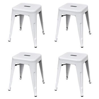 vidaXL Složivi stolci 4 kom bijeli čelični