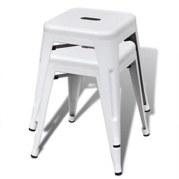 vidaXL Složivi stolci 6 kom bijeli čelični