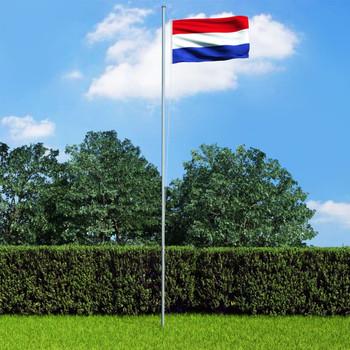 vidaXL Nizozemska zastava s aluminijskim stupom 6,2 m