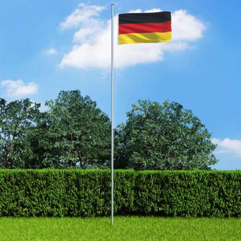 vidaXL Njemačka zastava s aluminijskim stupom 6,2 m