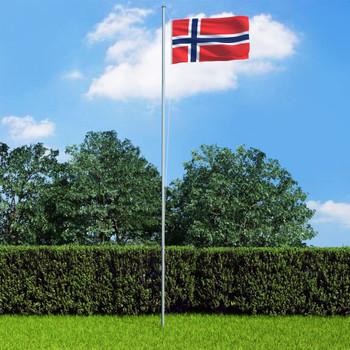 vidaXL Norveška zastava s aluminijskim stupom 6,2 m
