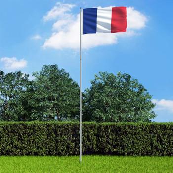 vidaXL Francuska zastava s aluminijskim stupom 6 m
