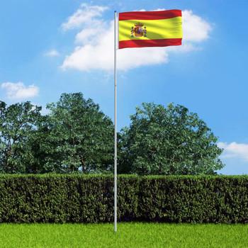 vidaXL Španjolska zastava s aluminijskim stupom 6 m