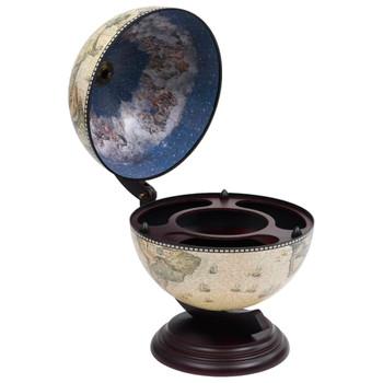 vidaXL Stolni stalak za vino u obliku globusa drvo eukaliptusa zeleni