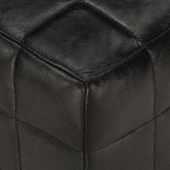 vidaXL Tabure za jednu osobu od prave kozje kože crni