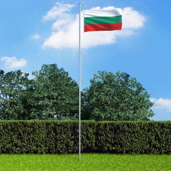 vidaXL Bugarska zastava s aluminijskim stupom 6,2 m
