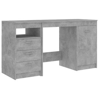 vidaXL Radni stol siva boja betona 140 x 50 x 76 cm od iverice