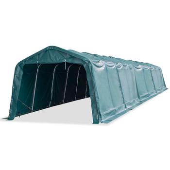 vidaXL Uklonjivi šator za stoku PVC 550 g/m² 3,3 x 16 m tamnozeleni