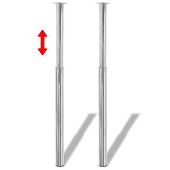 vidaXL Teleskopske noge za stol 4 kom kromirane 710 - 1100 mm