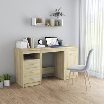 vidaXL Radni stol boja hrasta sonome 140 x 50 x 76 cm od iverice