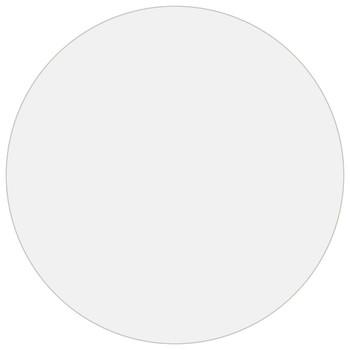 vidaXL Zaštita za stol mat Ø 80 cm 2 mm PVC