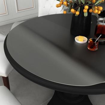 vidaXL Zaštita za stol mat Ø 110 cm 2 mm PVC